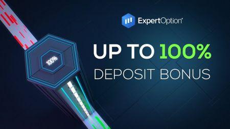 ExpertOptionウェルカムプロモーション-100%デポジットボーナス最大$ 500