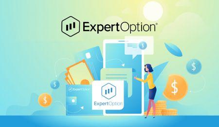 ExpertOptionで口座を開設してお金を入金する方法